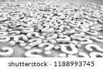 pile of white question marks.... | Shutterstock . vector #1188993745