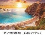 playa del silencio in cudillero ... | Shutterstock . vector #1188994438