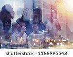 working group of businessmen... | Shutterstock . vector #1188995548