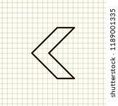 undo arrow icon  motion icon....   Shutterstock .eps vector #1189001335