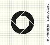 aperture  camera lens symbol | Shutterstock .eps vector #1189001362