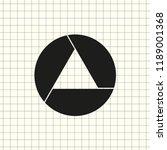 aperture  camera lens symbol | Shutterstock .eps vector #1189001368