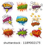 comic bright speech bubbles set ... | Shutterstock .eps vector #1189002175
