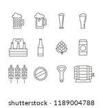 set of different beer line... | Shutterstock .eps vector #1189004788