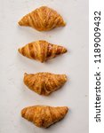 fresh croissants  flat lay | Shutterstock . vector #1189009432