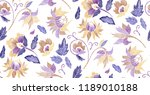 floral seamless background... | Shutterstock .eps vector #1189010188