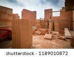 rough construction of the two... | Shutterstock . vector #1189010872