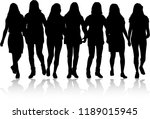silhouette of a woman. | Shutterstock .eps vector #1189015945