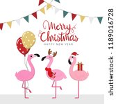merry christmas and happy new... | Shutterstock .eps vector #1189016728