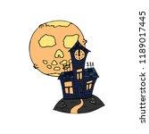 happy halloween color vector... | Shutterstock .eps vector #1189017445