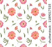 seamless pattern with pink and... | Shutterstock . vector #1189017535