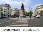 paris  france   may 16  2018 ... | Shutterstock . vector #1189027678