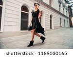 beautiful fashionable woman... | Shutterstock . vector #1189030165
