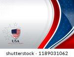 usa color flag concept... | Shutterstock .eps vector #1189031062