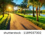 through the park for jogging or ... | Shutterstock . vector #1189037302