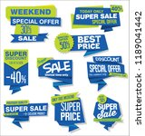modern sale banners and labels... | Shutterstock .eps vector #1189041442