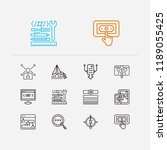 seo icons set. apps development ...