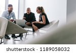 group of business people... | Shutterstock . vector #1189058032