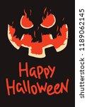 happy halloween flaming pumpkin ...   Shutterstock .eps vector #1189062145