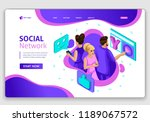website isometric landing page... | Shutterstock .eps vector #1189067572