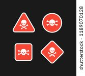 set of vector red danger poison ... | Shutterstock .eps vector #1189070128