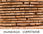 piles of wooden boards in the... | Shutterstock . vector #1189076038