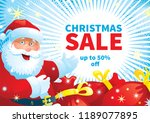 christmas sale holiday... | Shutterstock .eps vector #1189077895