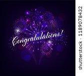 congratulation illustration... | Shutterstock .eps vector #1189078432