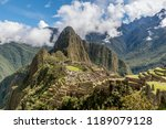 archeological site of machu...   Shutterstock . vector #1189079128