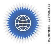 globe vector icon | Shutterstock .eps vector #1189081588