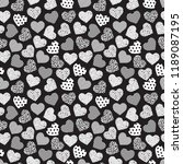seamless geometric heart... | Shutterstock .eps vector #1189087195