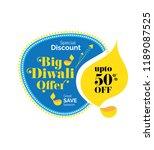 big diwali sale  offer banner... | Shutterstock .eps vector #1189087525