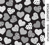 seamless geometric heart... | Shutterstock .eps vector #1189089268