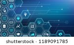 artificial intelligence  ... | Shutterstock .eps vector #1189091785