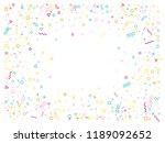 memphis style geometric... | Shutterstock .eps vector #1189092652