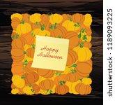 halloween. pumpkins in the form ...   Shutterstock .eps vector #1189093225