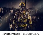 Firefighter Wearing Protection...