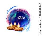 abstract happy diwali artistic...   Shutterstock .eps vector #1189098442