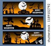 halloween banners leaflets... | Shutterstock .eps vector #1189102792