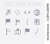 outline 12 country icon set.... | Shutterstock .eps vector #1189118098