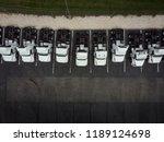 fleet of white 18 wheeler semi...   Shutterstock . vector #1189124698