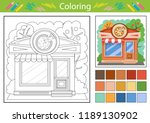 coloring worksheets with... | Shutterstock .eps vector #1189130902
