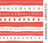 funny christmas pattern with... | Shutterstock .eps vector #1189131712