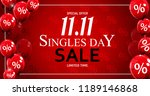 november 11 singles day sale.... | Shutterstock .eps vector #1189146868