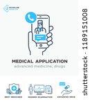 medical illustrations icons ... | Shutterstock .eps vector #1189151008