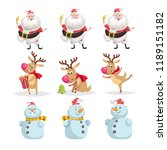 cute cartoon christmas... | Shutterstock .eps vector #1189151182