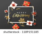 merry christmas background.... | Shutterstock .eps vector #1189151185