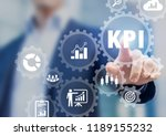 kpi key performance indicators... | Shutterstock . vector #1189155232