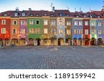 architecture of the main square ... | Shutterstock . vector #1189159942