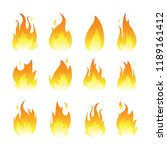 vector graphic flames... | Shutterstock .eps vector #1189161412